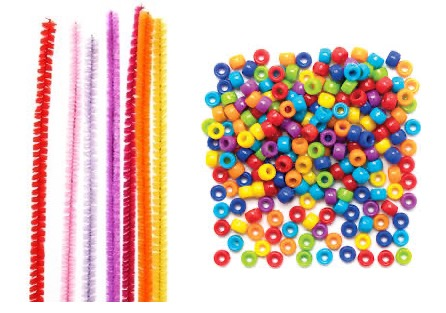This is a picture of pipe cleaners and beads.