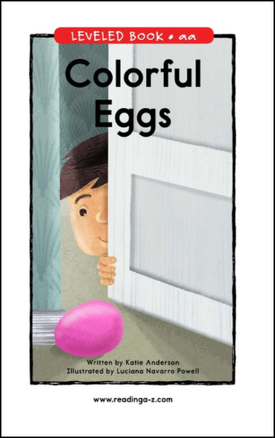 This is a picture of the book, Colorful Eggs